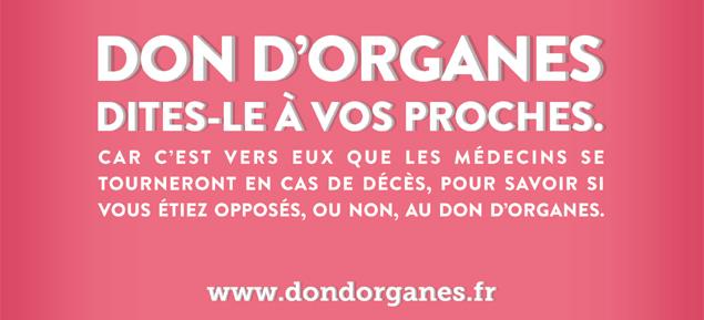 Mobilisation pour le don et la greffe d'organes